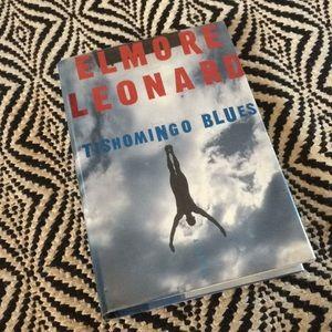 """SIGNED Elmore Leonard novel """"Tishomingo Blues"""""""